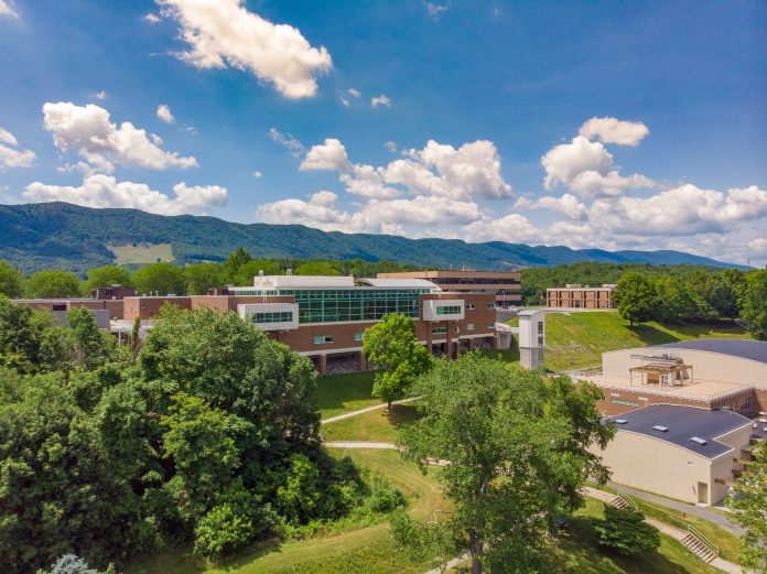 Aerial images of college