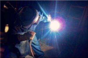 SMAW shielded metal arc stick welding test