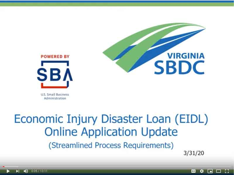 Economic Injury Disaster Recovery
