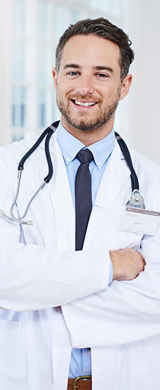physicians assistant with crossed arms